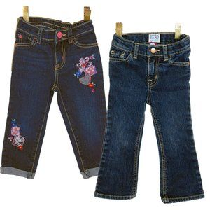 2 Pairs of 1989 Place (EST 89) Toddlers Jeans - 2T